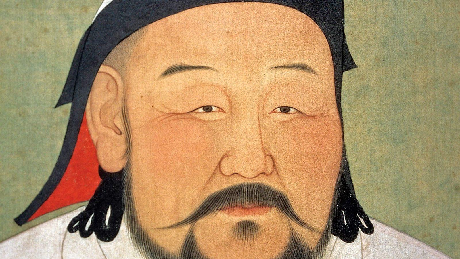 Ce portrait de Kubilai Khan a été peint après sa mort en 1924, il est aujourd'hui ...