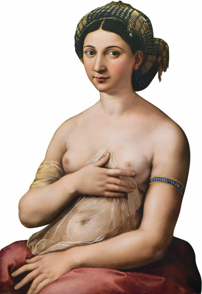 Tableau La Fornarina, aussi connu sous le nom La fille du boulanger, peinture à l'huile sur ...