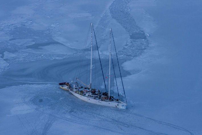 La glace se referme