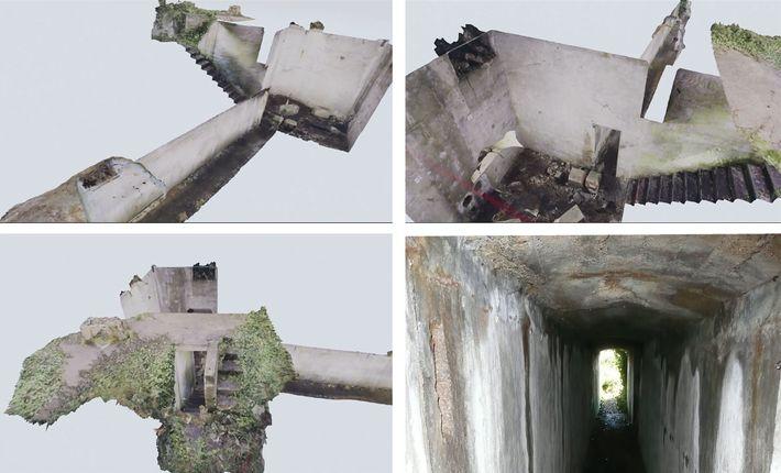 En assemblant des prises de vue 3D, les archéologues ont pu visualiser un tunnel qui reliait ...