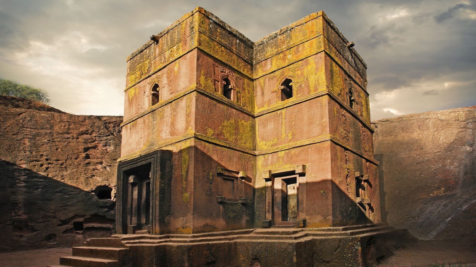 L'église Saint-Georges à Lalibela, En Éthiopie.