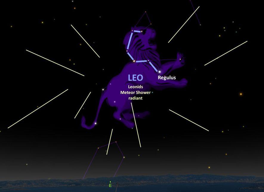 Illustration de la constellation du Lion.