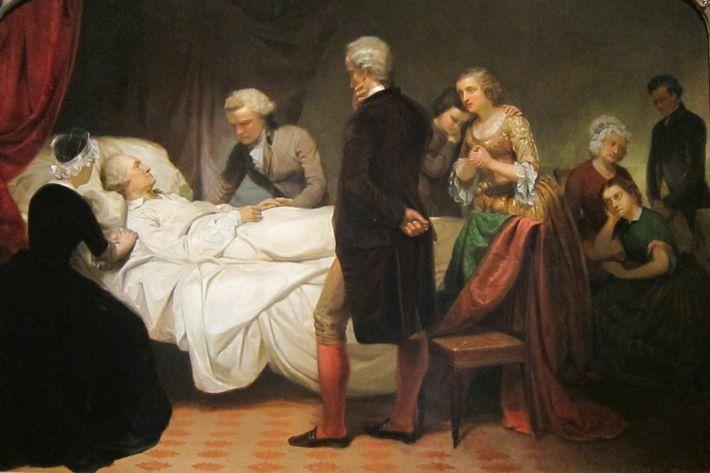 En 1799, George Washington souffrit de maux de gorge accompagnés d'un gonflement de celle-ci. Les médecins pratiquèrent une ...