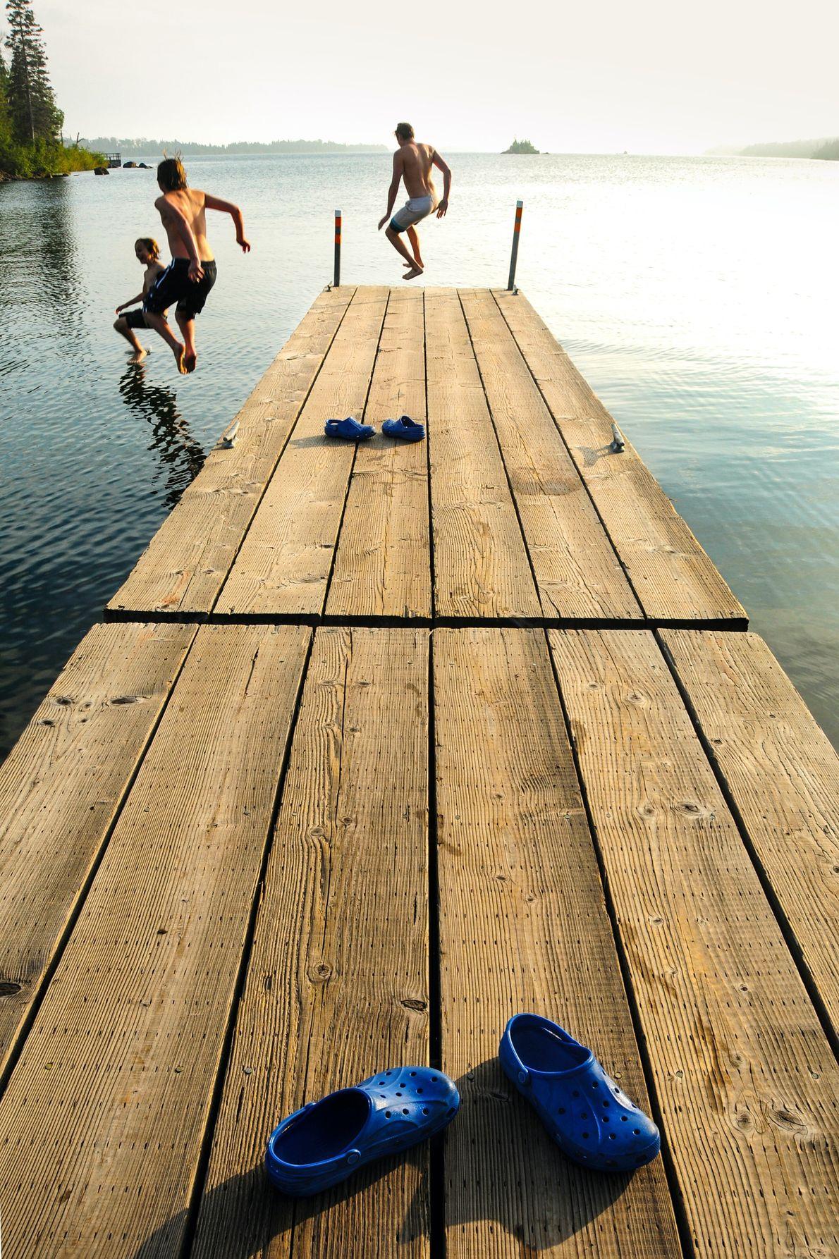 L'Isle Royale, États-Unis. Plongeons dans les eaux du lac Supérieur, dans le parc national d'Isle Royale.