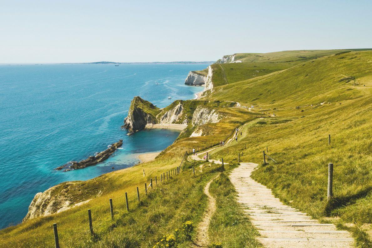 Littoral anglais, Grande-Bretagne. Dans le comté anglais du Dorset, la côte jurassique.