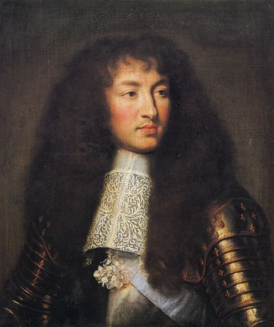 Louis XIV - Portrait signé par Charles Lebrun