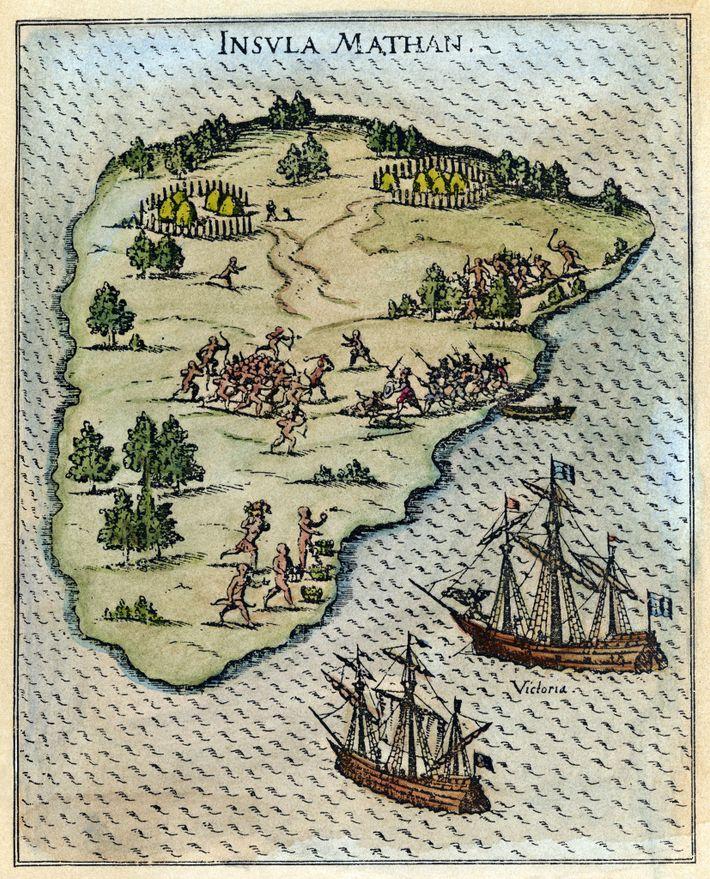 En mars 1521, l'expédition atteignait les Philippines où les relations avec le peuple indigène passèrent d'un ...