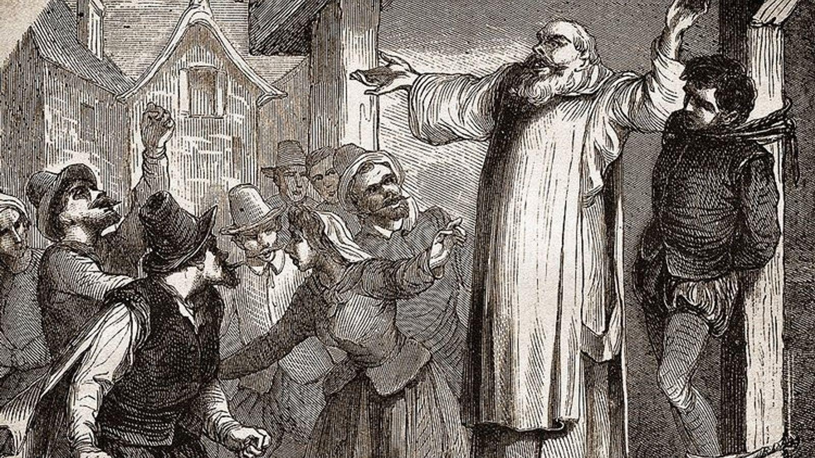 Représentation d'un procès durant lequel, comme dans le procès de Martin Guerre, le public était très ...