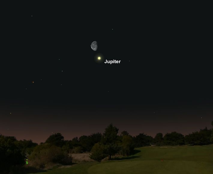 Jupiter se rapprochera de la lune gibbeuse le 7 mars.