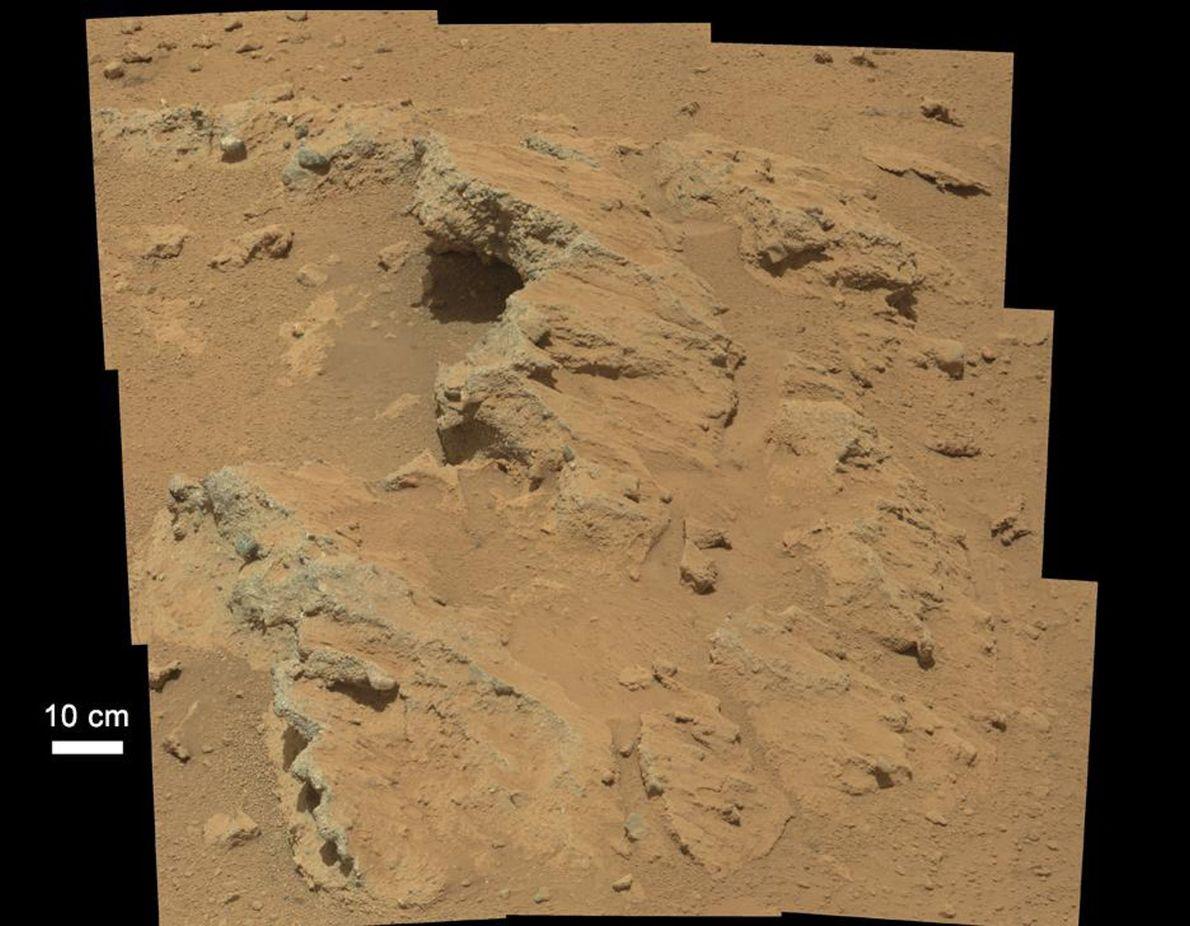 En 2012, le rover Curiosity de la NASA a mis au jour les restes d'un ancien ...