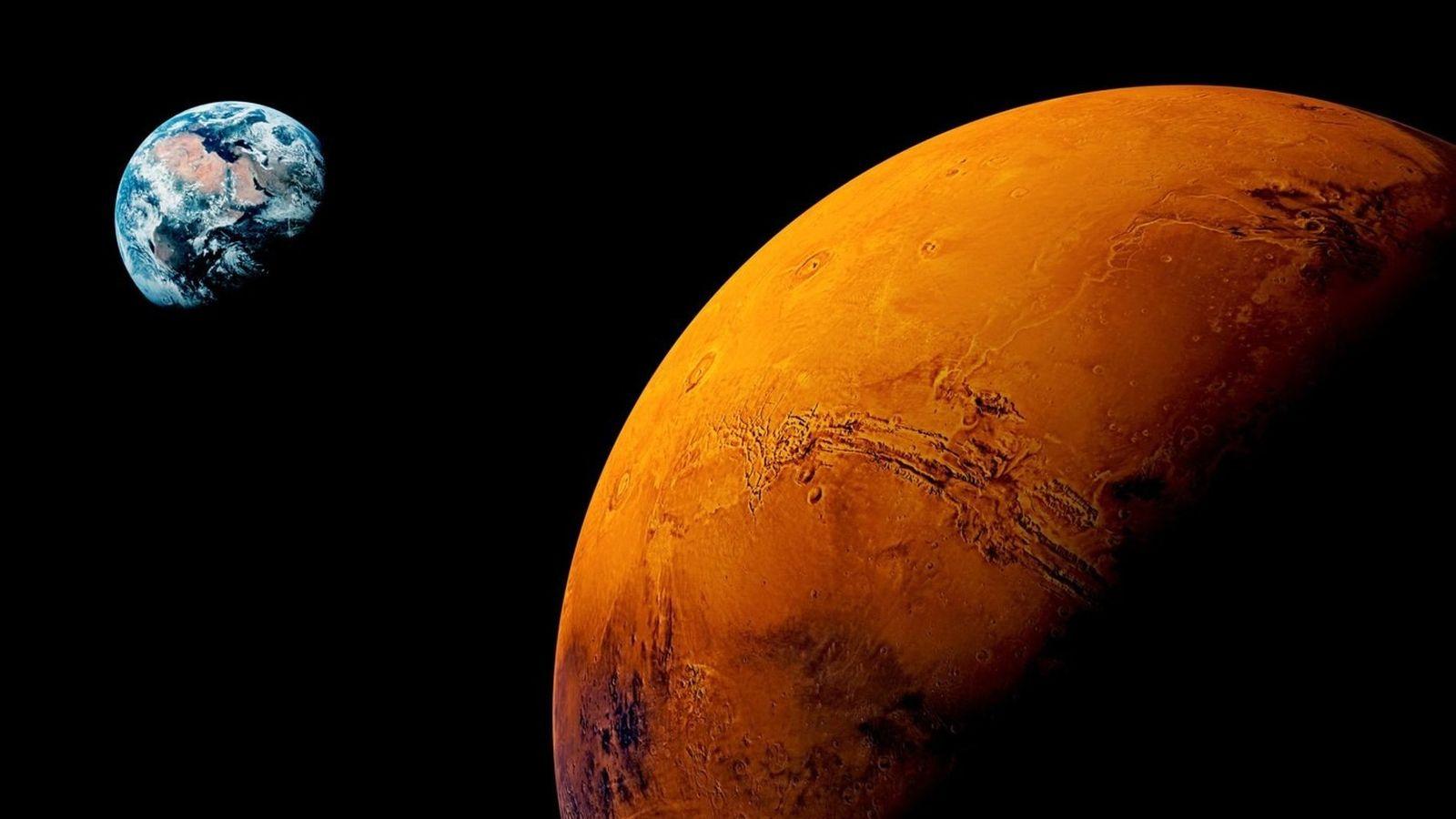 La planète rouge.