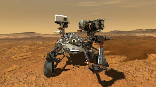Le rover Perseverance de la mission Mars 2020 est à la recherche d'anciens signes de vie sur ...