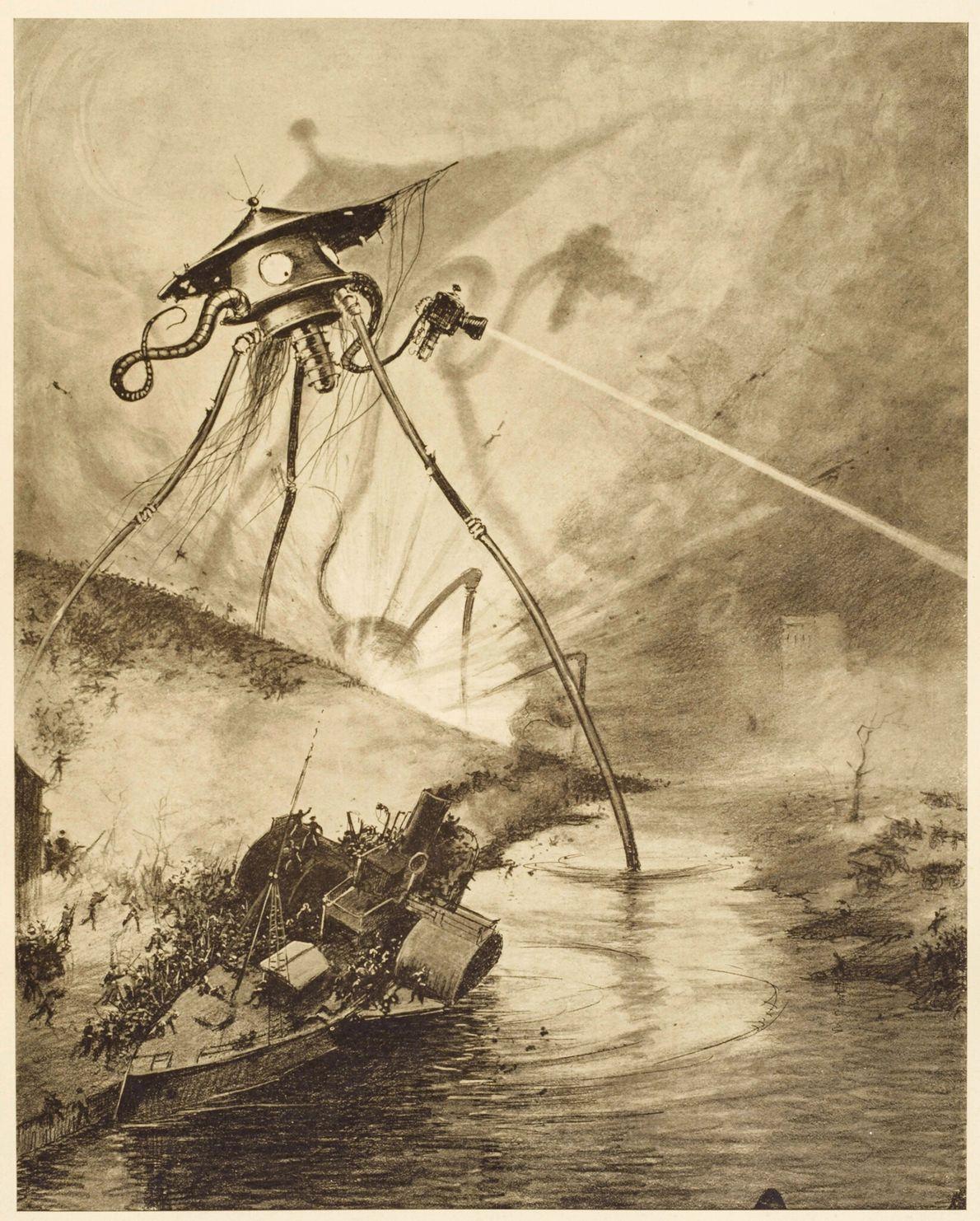 1898 : La Guerre des mondes  Dans le désormais célèbre thriller de H. G. Well, un témoin narre la bataille ...