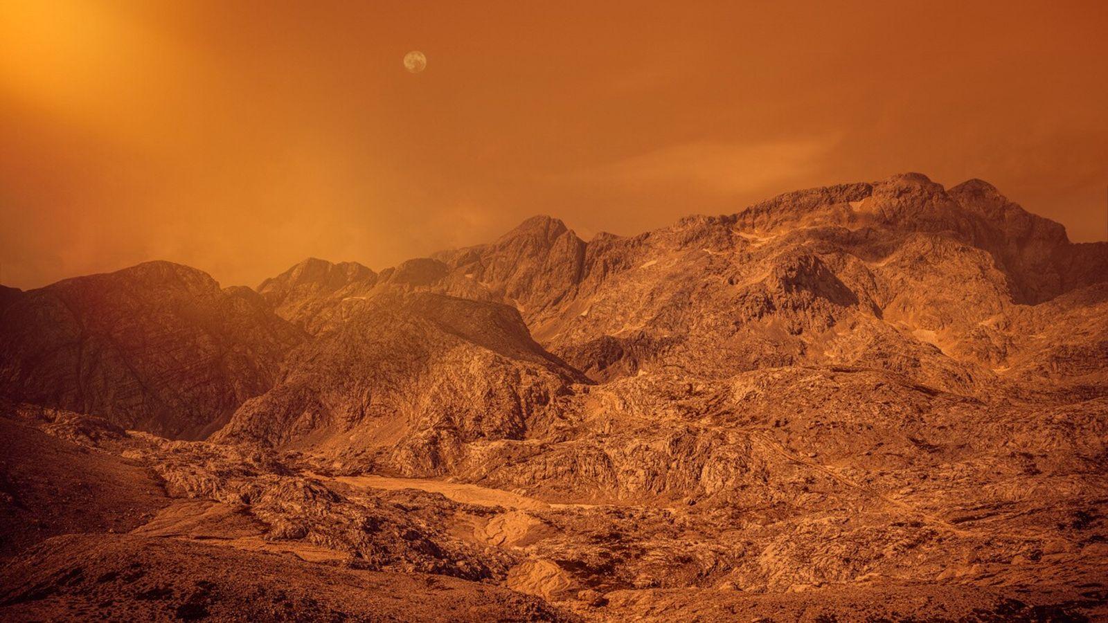 La croûte de Mars se serait refroidie progressivement et la surface aurait ainsi pu réunir les ...