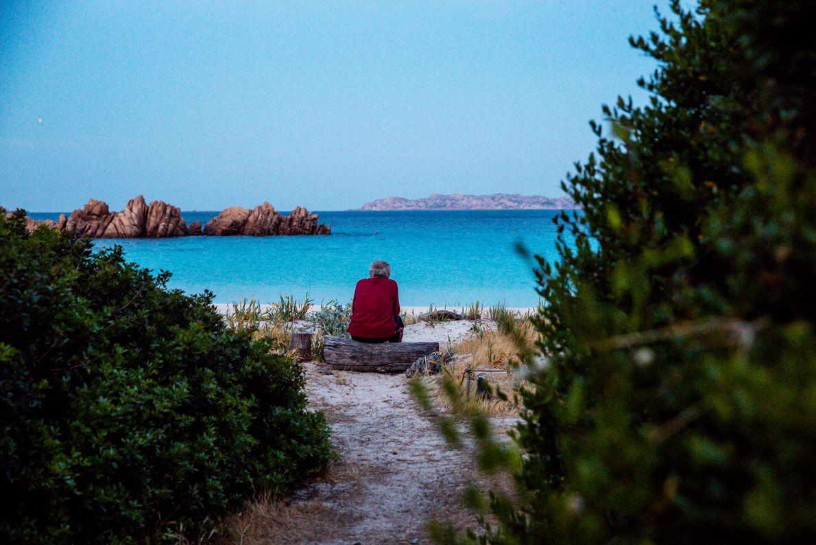Morandi passe des heures à regarder la mer. Pour lui, l'île Budelli est la quintessence de ...