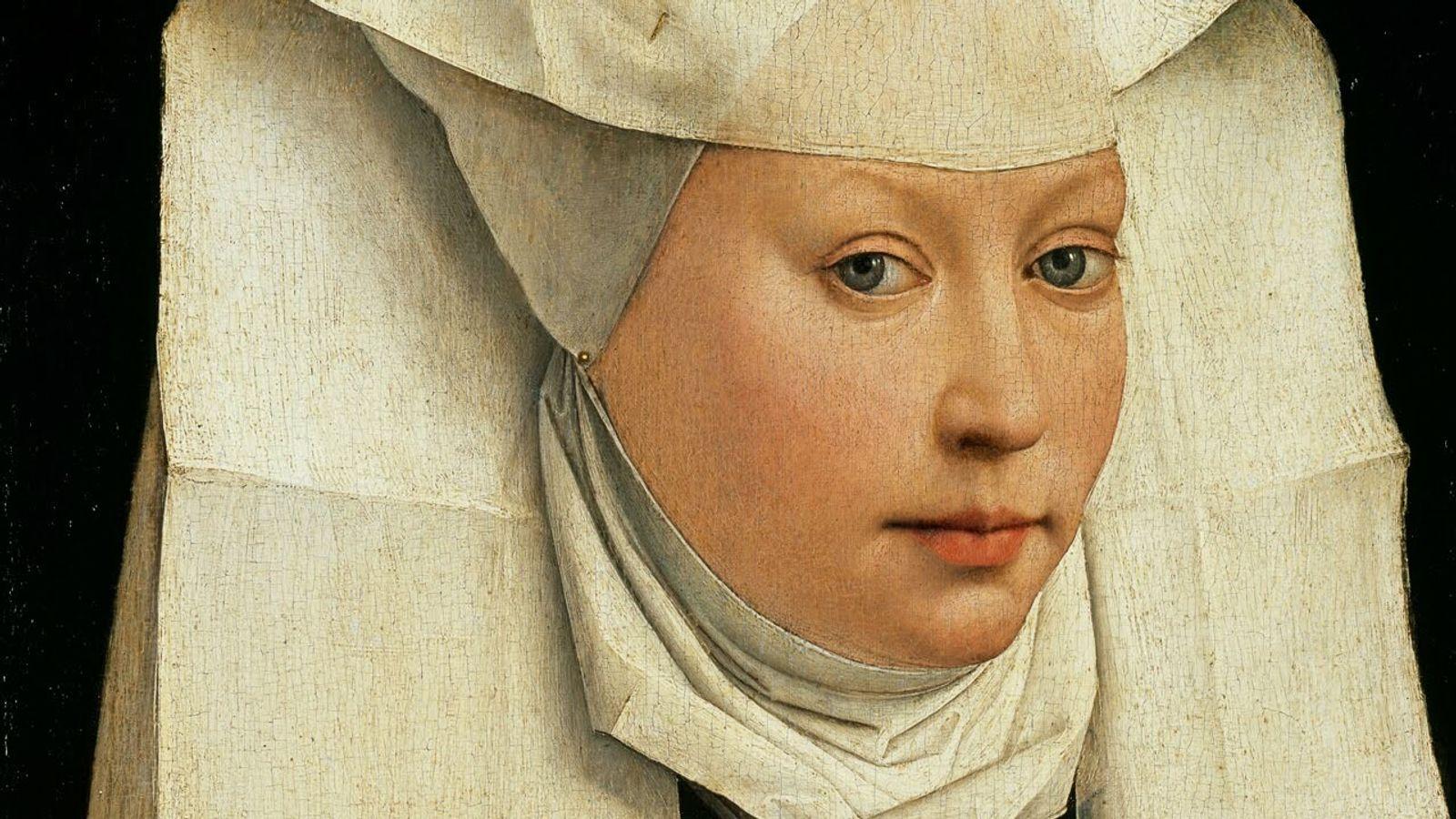 Portrait d'une femme, peint entre 1435 et 1440 et conservé à la Gemäldegalerie à Berlin.