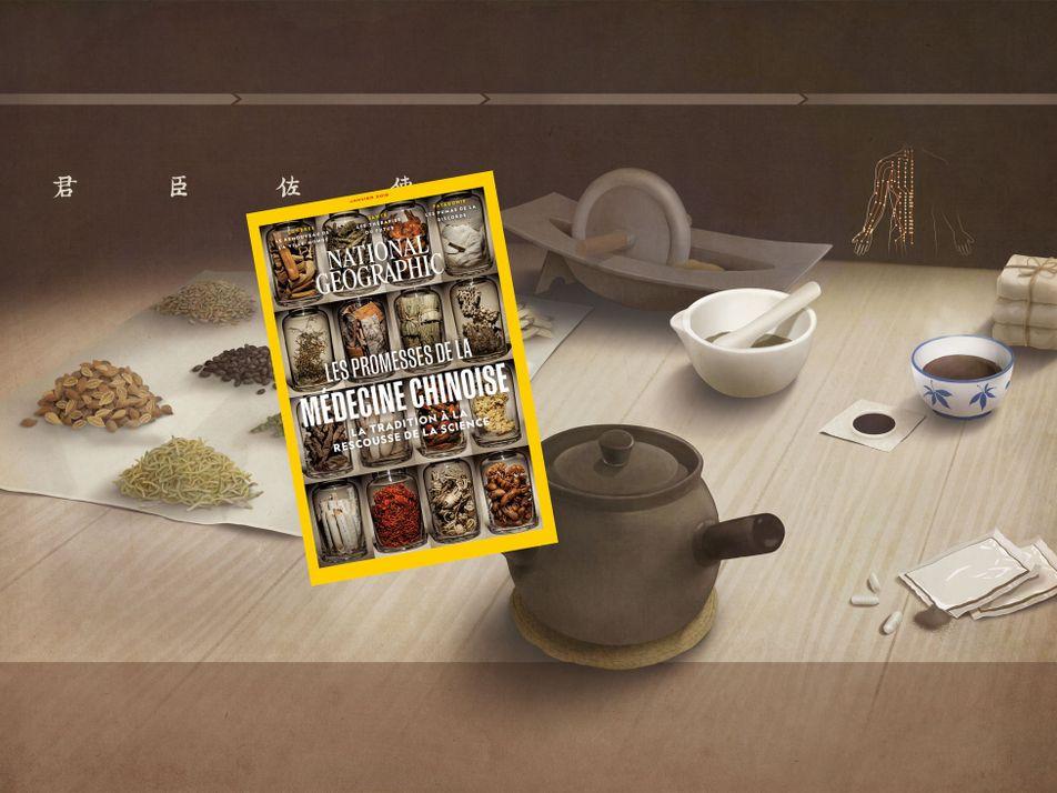 Sommaire du magazine National Geographic de janvier 2019 : les promesses de la médecine chinoise