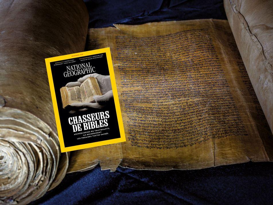 Sommaire du magazine National Geographic de décembre 2018 : Chasseurs de bibles