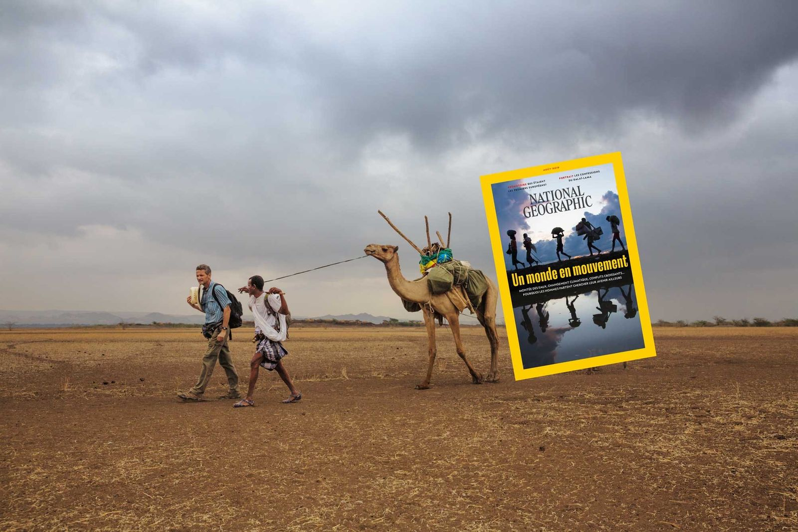 Sommaire du magazine National Geographic d'août 2019 : un monde en mouvement
