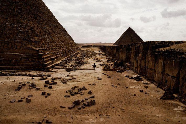 Les pyramides de Gizeh. Le Caire, Egypte. Décembre 2013