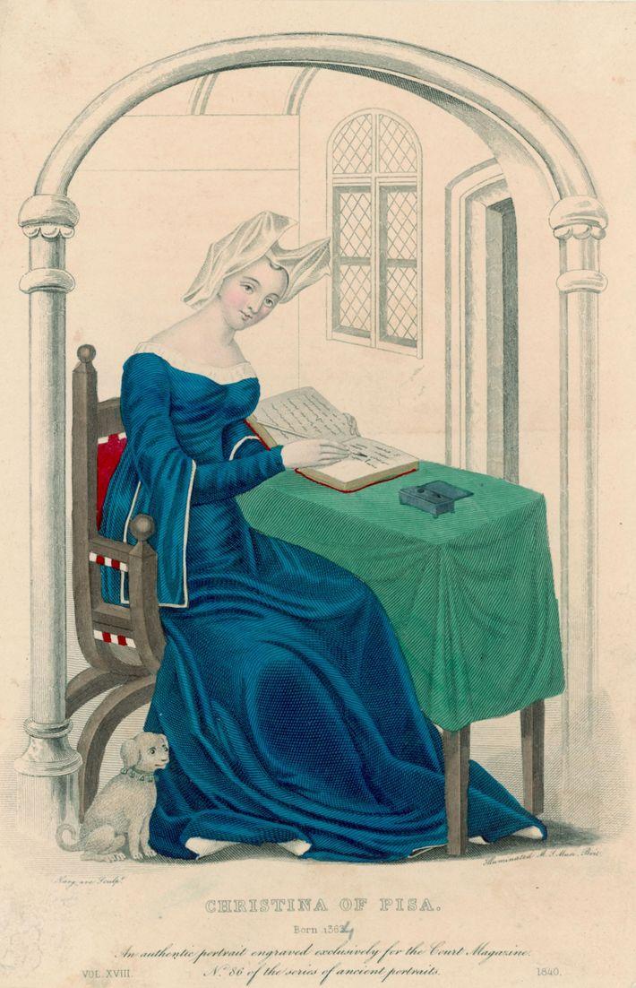 Lorsque le mari de Christine de Pizan meurt en 1379, elle subvient aux besoins de ses ...