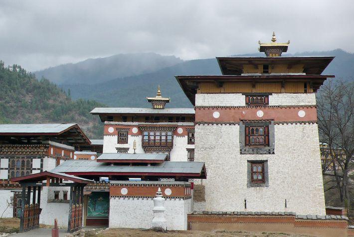 Datant du 16e siècle, le monastère Pangri Zampa abrite aujourd'hui le Royal College of Astrology.