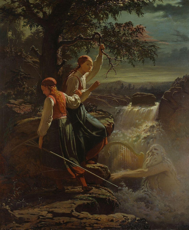 Dans la mythologie scandinave, le Nacken est un musicien virtuose qui attire dans l'eau femmes et ...