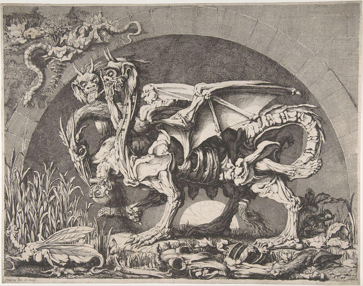 Dans l'Iliade, Homère décrit la chimère comme étant un monstre cracheur de feu à tête de ...