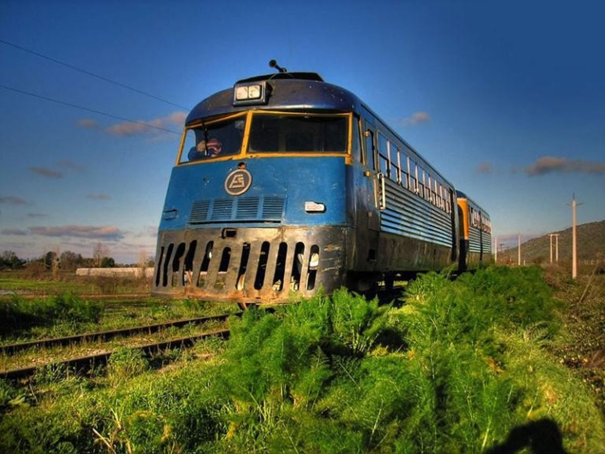 Dernière bretelle ferroviaire rurale du Chili, la Ramal Talca-Constitución de 90 kilomètres relie la ville de ...