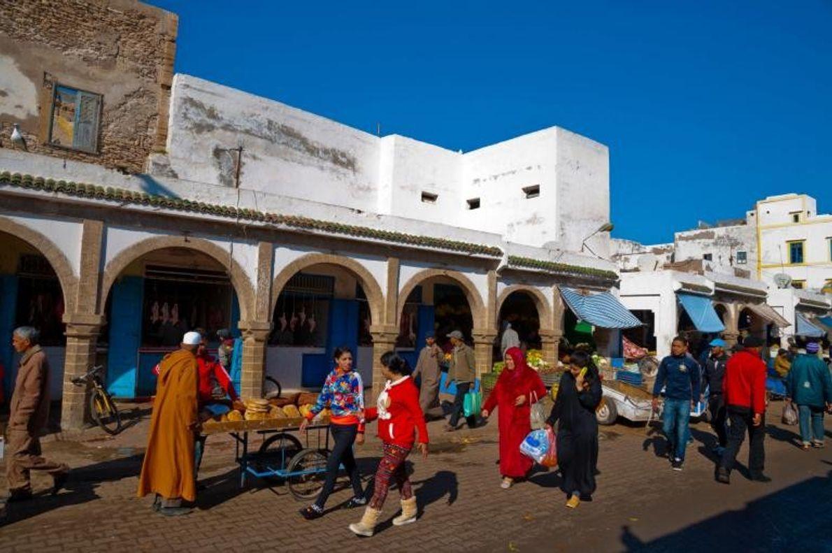 Poste de traite entre l'Afrique et l'Europe au milieu du 18e siècle, Essaouira est célèbre pour ...