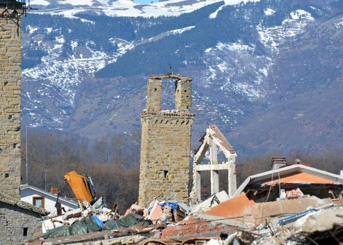 En août 2016, un tremblement de terre a frappé une partie du centre de l'Italie, dont ...