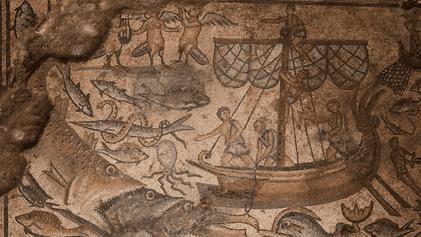 Une mosaïque découverte dans une synagogue du Ve siècle