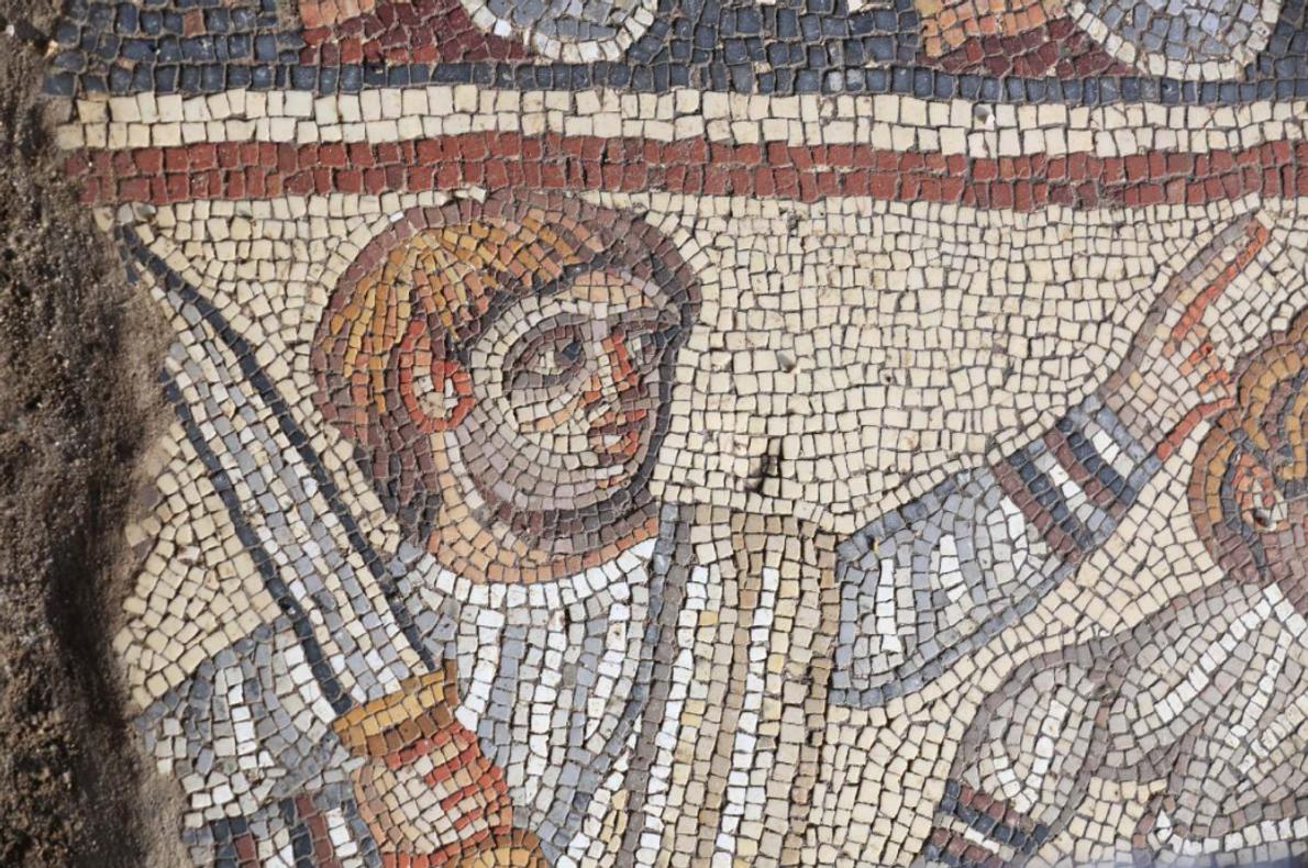 La mosaïque de 1 600 ans comprend des représentations non bibliques, ce qui est plutôt inhabituel ...