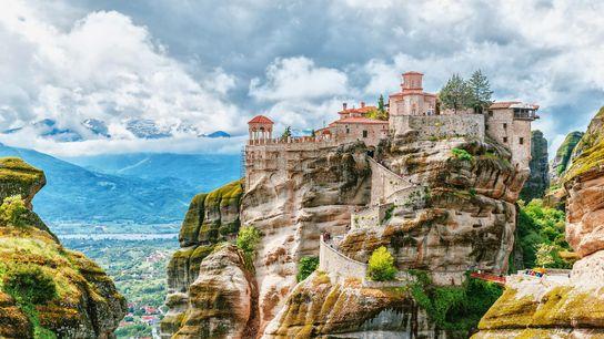 Monastère des météores, en Grèce, classé au patrimoine mondial de l'UNESCO.