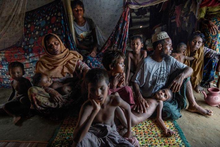 « Une fois arrivés dans le camp bondé, les réfugiés doivent monter leurs propres tentes de ...