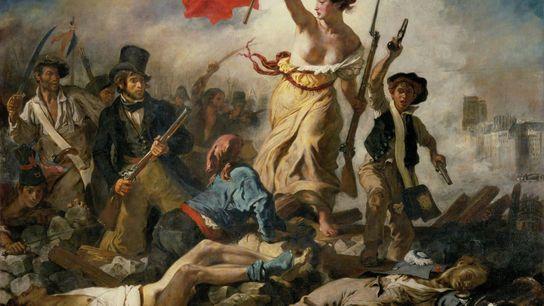 """L'œuvre de 1830 """"La liberté guidant le peuple"""" a été peinte par le célèbre peintre français ..."""