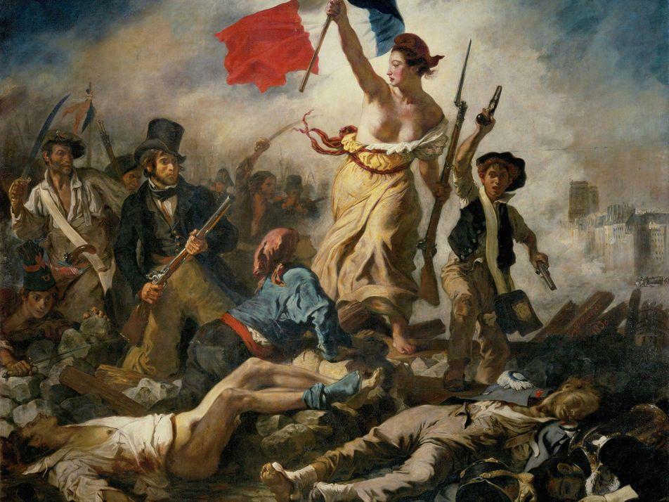 Le chef-d'œuvre de Delacroix aurait été peint avec des restes de momies