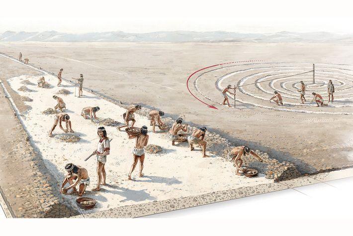 Il y a plusieurs millénaires, des géoglyphes, comme les lignes de Nazca, ont été créés par ...