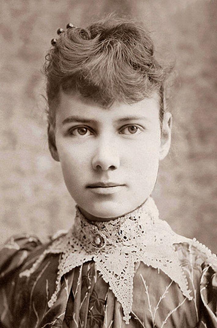 Portrait de Nellie Bly, photographie de 1890.