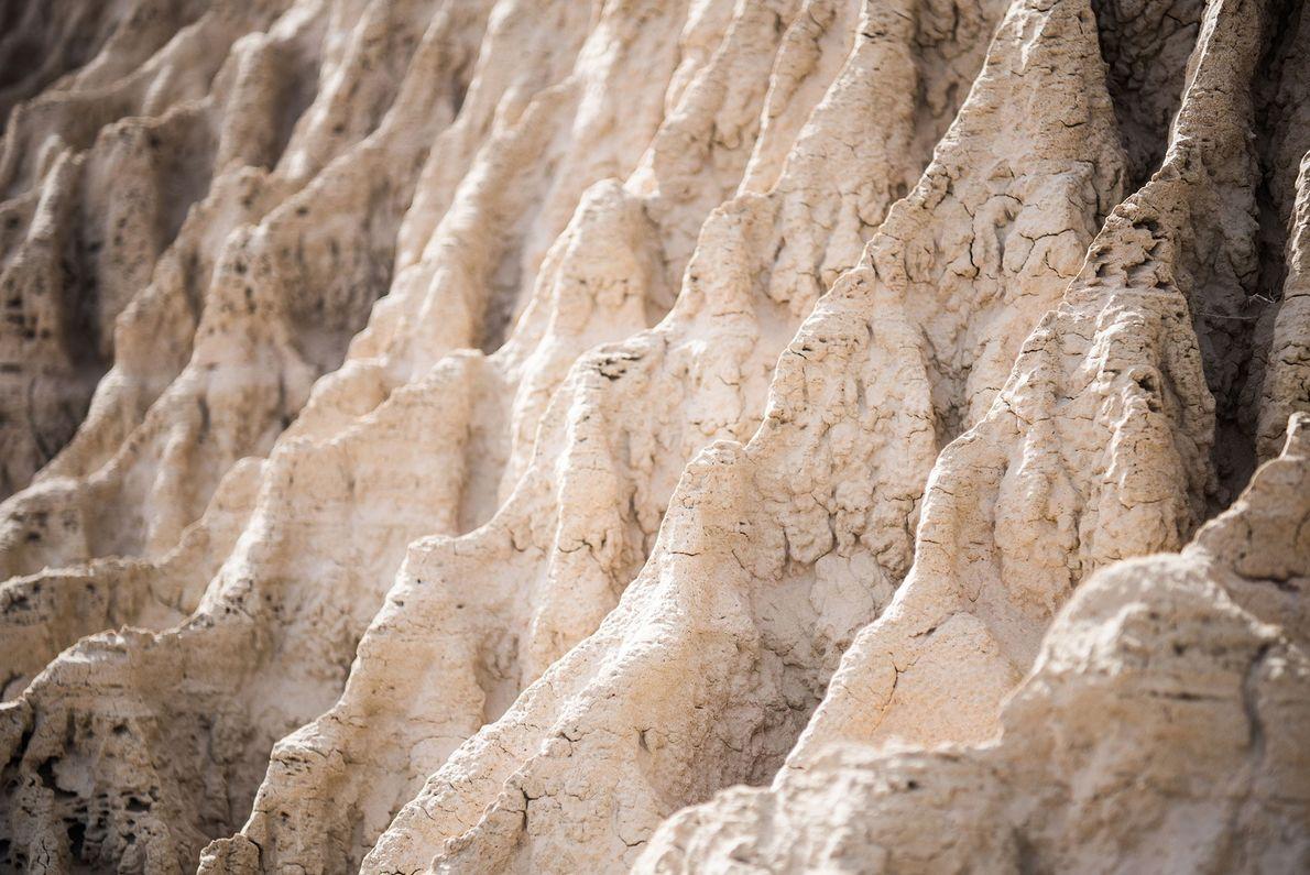 Les lunettes dans les murs de Chine sont les stigmates de l'ancien lac Mungo, un site ...
