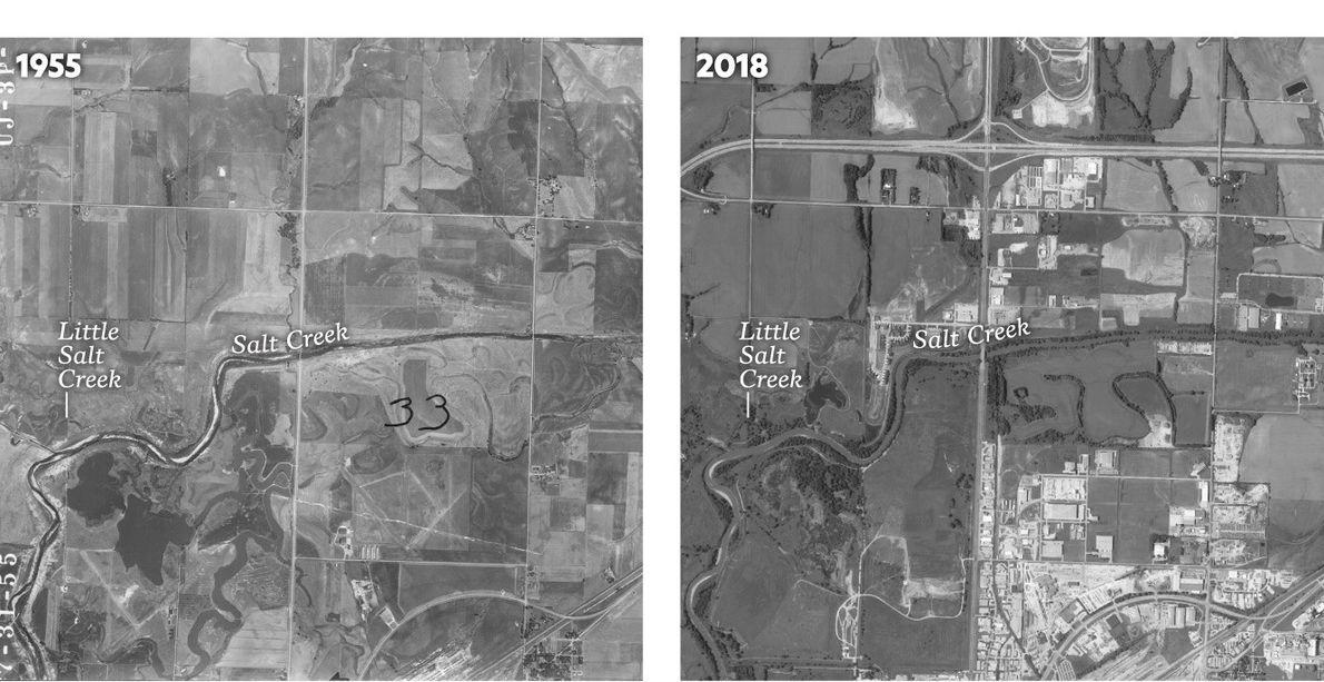 Ces images d'archive de la ville de Lincoln, dans le Nebraska, montrent comment l'aménagement du territoire ...