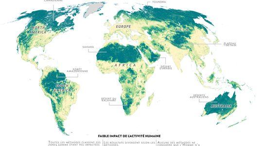Cette carte montre là où l'Homme... n'est pas.
