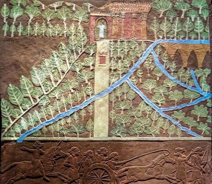 Au British Museum de Londres, on peut admirer ce relief intrigant de Ninive qui représente un ...