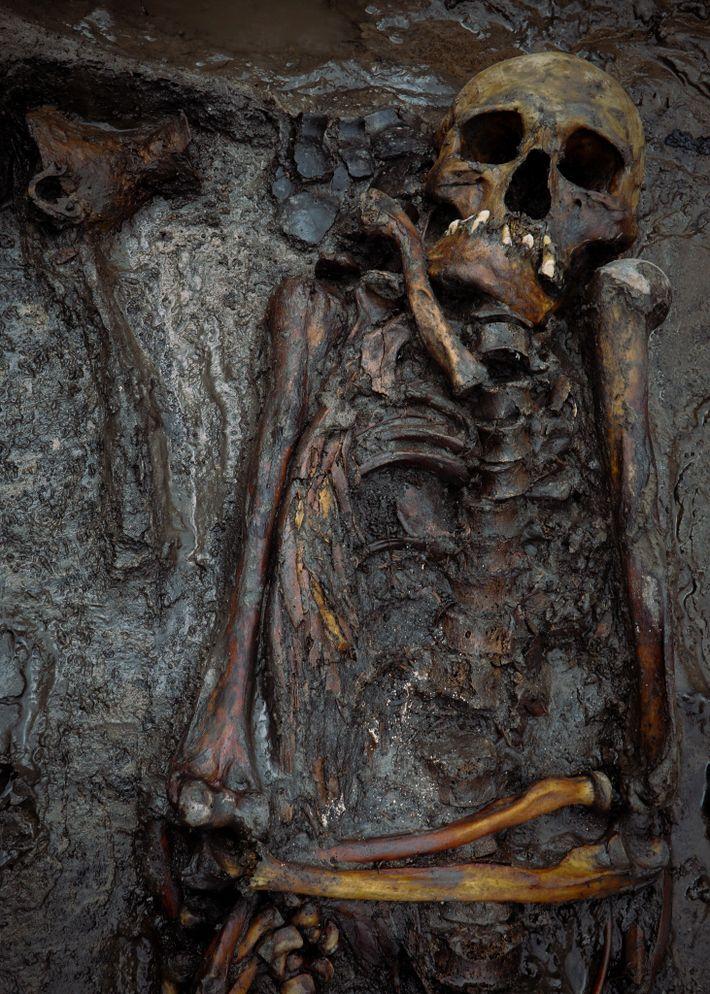 Cet homme d'âge moyen a été enterré à Tunnug 1 entre 100 et 300 avant notre ère. Une analyse ...