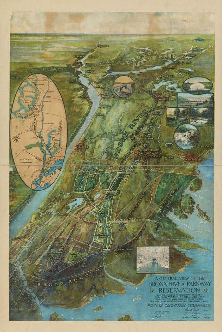 Le Bronx River Parkway Reservation, créé en 1925, est le plus vieux parc de Westchester. Il ...