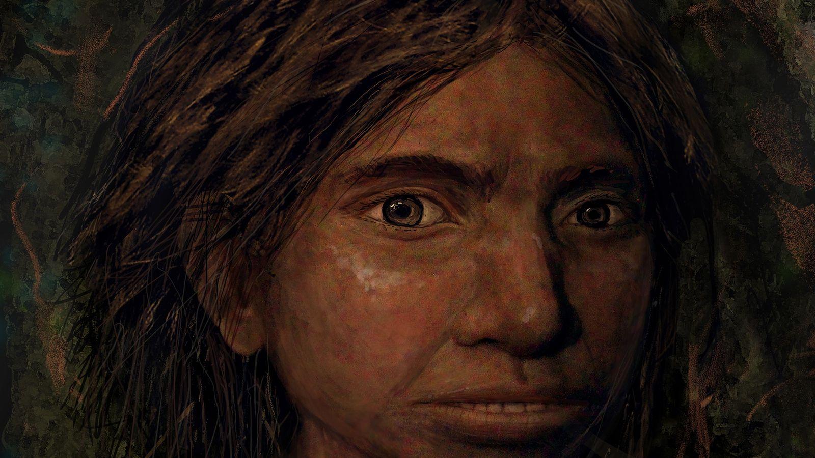 Cette illustration montre ce à quoi auraient pu ressembler les Dénisoviens. La génétique à l'origine de ...