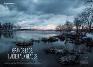 Grands lacs, l'adieu aux glaces.