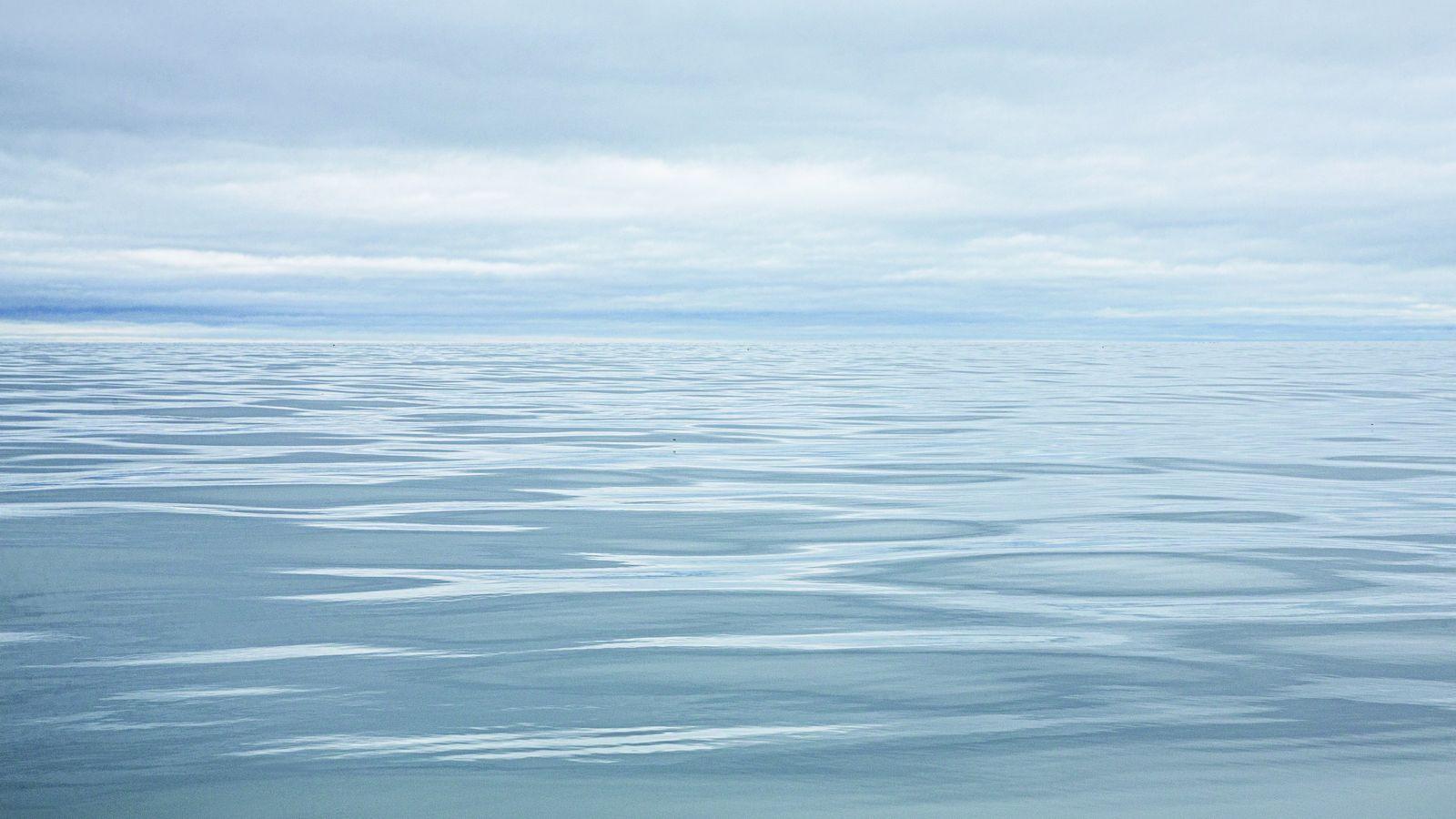 Mer des Tchouktches, entre la Sibérie et l'Alaska. EN 2019, l'étendue moyenne de la banquise y ...
