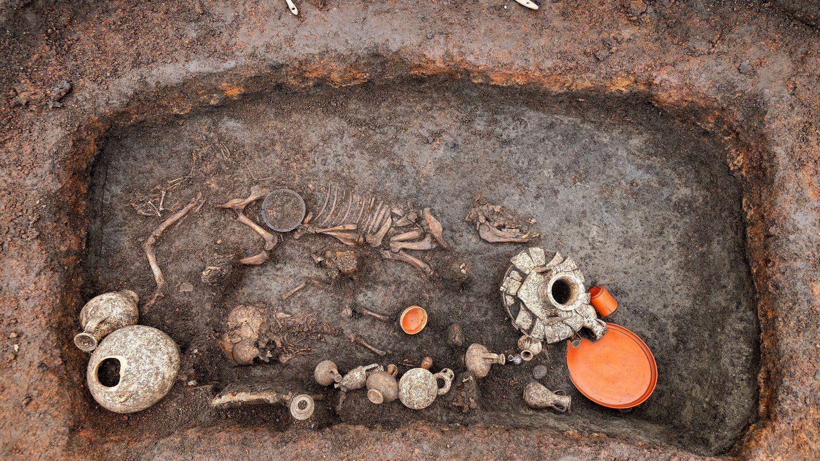 Sépulture d'un jeune enfant décédé à l'époque augusto-tibérienne.