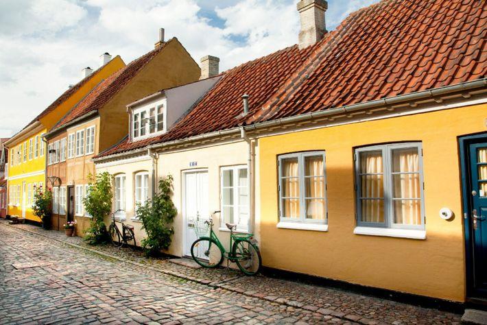 Old town of Odense, Denmark. HC Andersen's hometown.